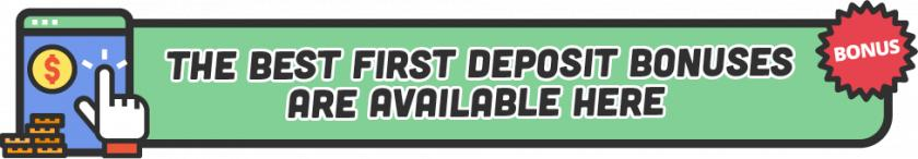 banner best first deposit bonuses